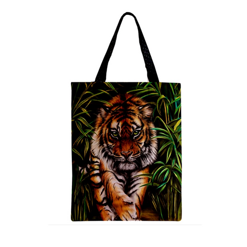 TIGER PROWLING TOTE Bag For Cat Lovers