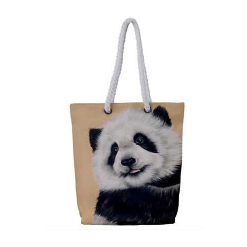 Panda Cub Rope Tote Bag