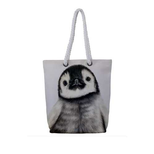 Penguin Chick Rope Tote Bag