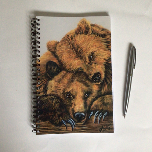 Bears Hugging A5 Lined Notebook