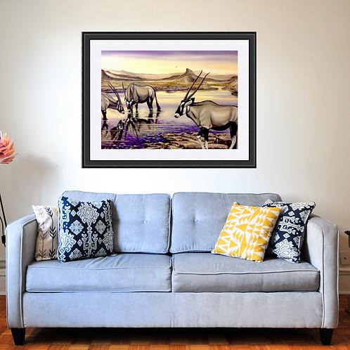 Oryx Landscape Fine Art Print