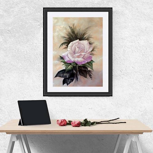 Pink Rose In Bloom Fine Art Print