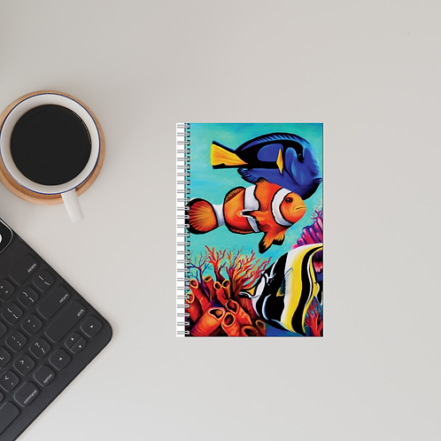 Tropical Fish A5 Lined Notebook