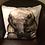 Thumbnail: Cute Elephant Illustrated Faux Suede Cushion