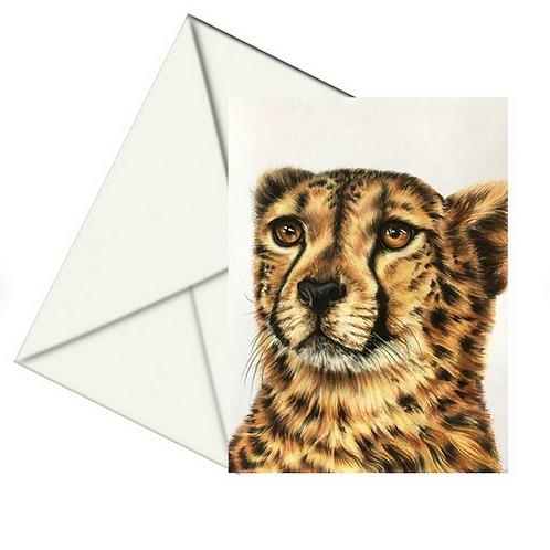 Cheetah Fine Art Card Blank