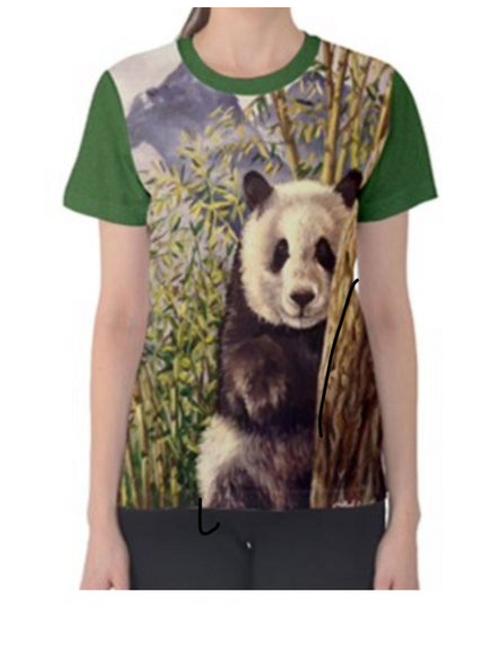 LADIES PANDA T Shirt Large
