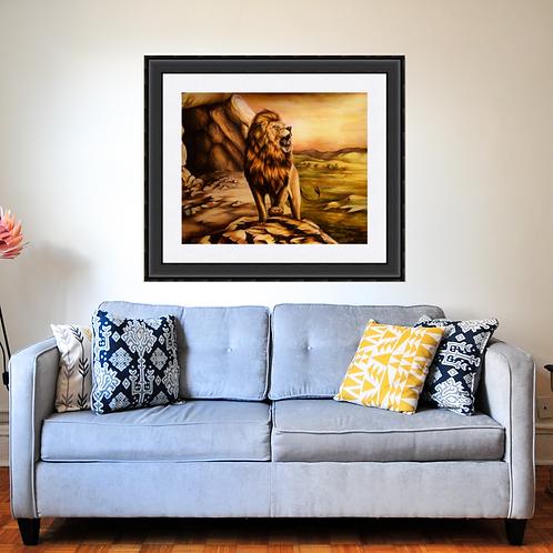 Roaring Lion Landscape Art Print