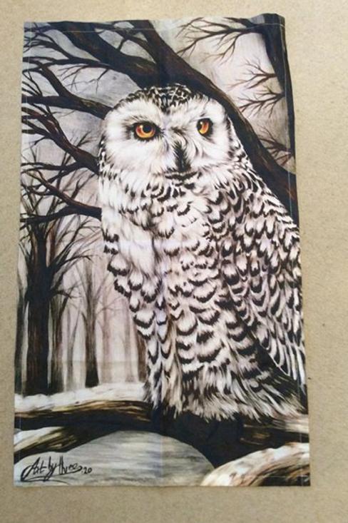 Snowy Owl Tea Towel