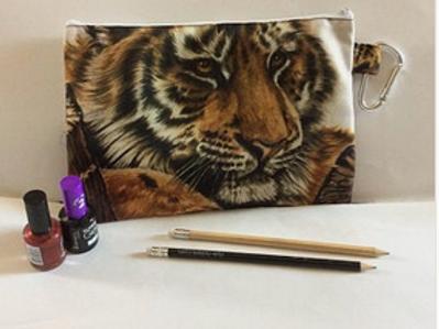 Tiger Cub Pencil Case-Cosmetic Bag