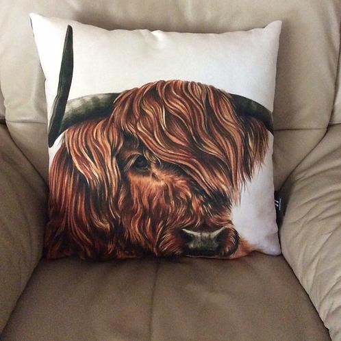 Highland Cow Vegan Friendly Cushion