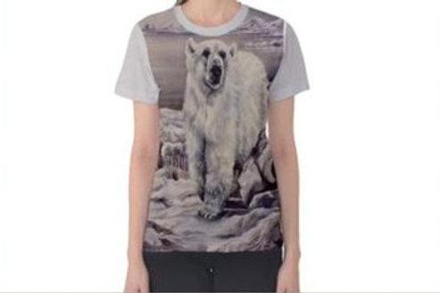 Ladies Polar Bear T Shirt Medium