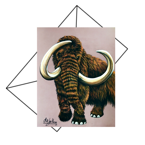 Woolly Mammoth Greeting Card Blank