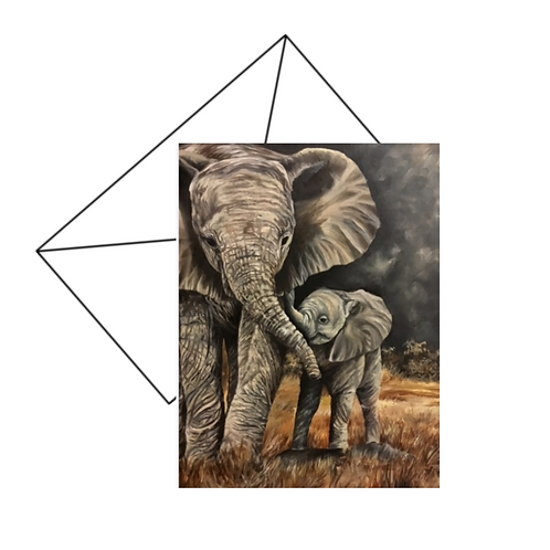 Elephant Love Card Blank