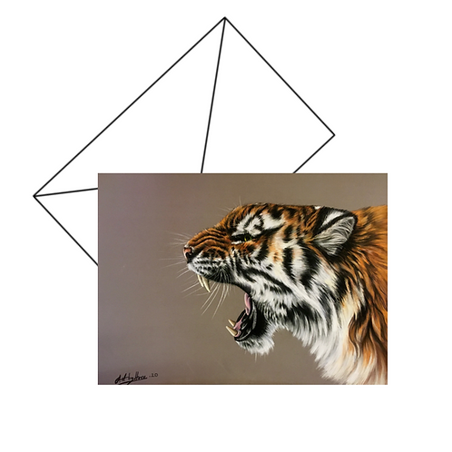 Roaring Tiger Fine Art Card