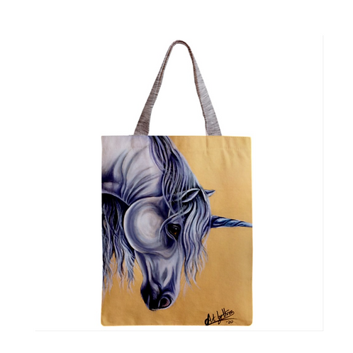 White Unicorn Tote Bag