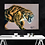 Thumbnail: Sabre Tooth Tiger Drawing Fine Art Print