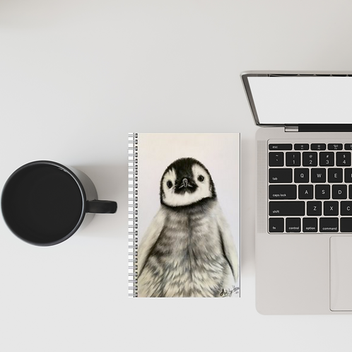 Cute Penguin Chick Lined Notebook