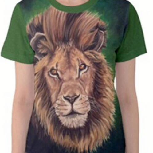 LADIES LION Full Print T Shirt
