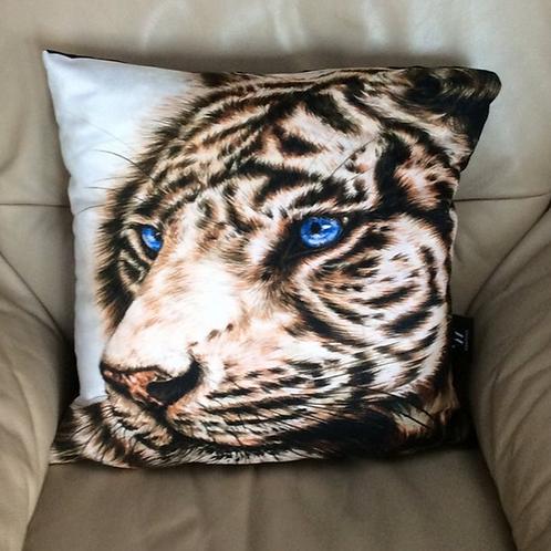 White Tiger Vegan Friendly Cushion