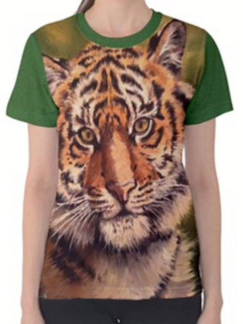 LADIES TIGER Full Print T Shirt