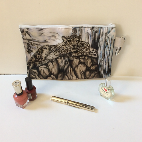 Snow Leopards Pencil Case-Cosmetic Bag