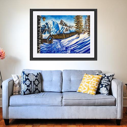 Alps in the Snow Fine Art Print