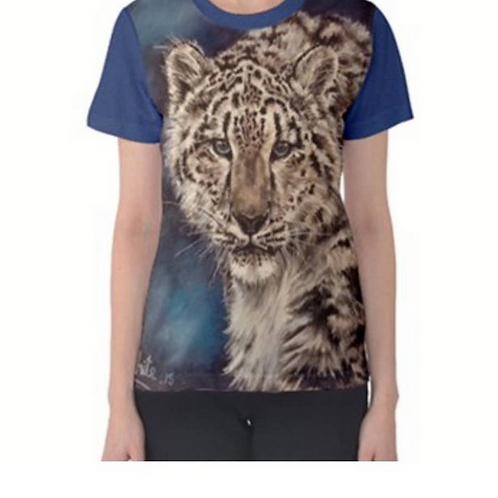 Snow Leopard Ladies Full Print T Shirt XL