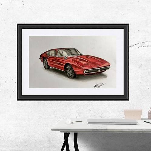 Maserati Ghibli Fine Art Print