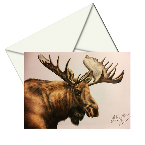 Moose Card Blank