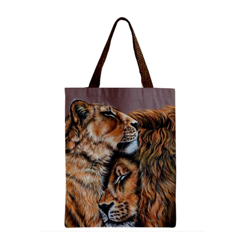 TWO LIONS TOTE Bag For Cat Lovers