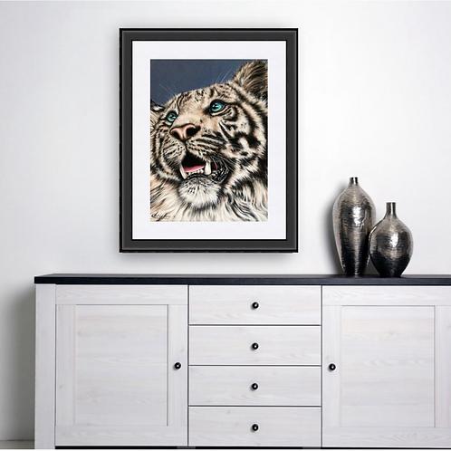 White Tiger Original Drawing