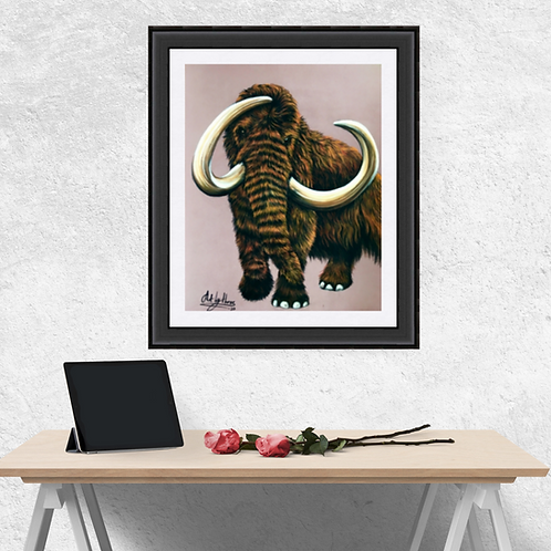 Woolly Mammoth Drawing Fine Art Print