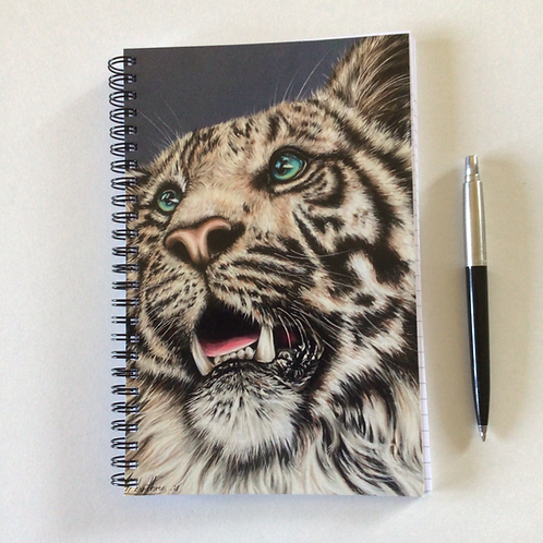 White Tiger A5 Lined Notebook