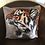 Thumbnail: Roaring Tiger Illustrated Faux Suede Cushion