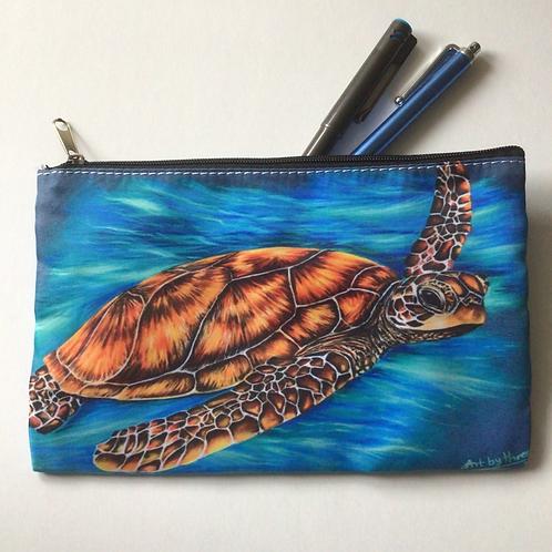 Sea Turtle Pencil Case/ Cosmetic Bag