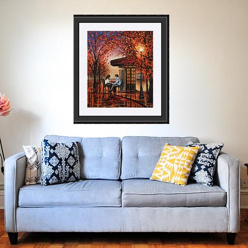 Autumn Reflections Romantic Art Print
