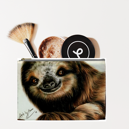 Smiling Sloth Pencil Case/ Cosmetic Bag