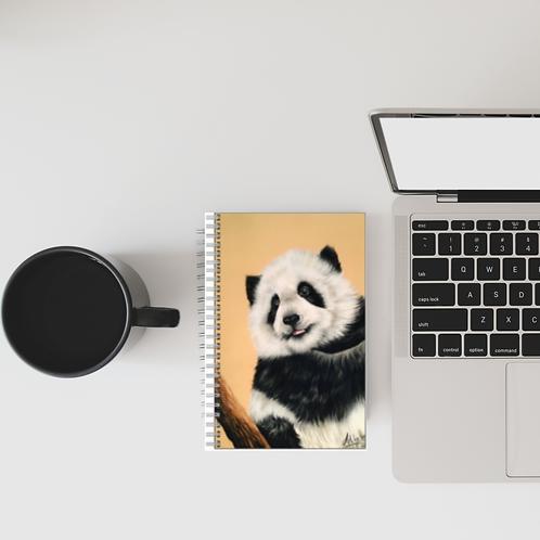 Cute Panda Cub Lined Notebook