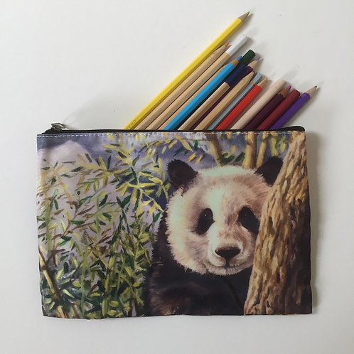 Giant Panda In Bamboo Pencil Case/ Cosmetic Bag