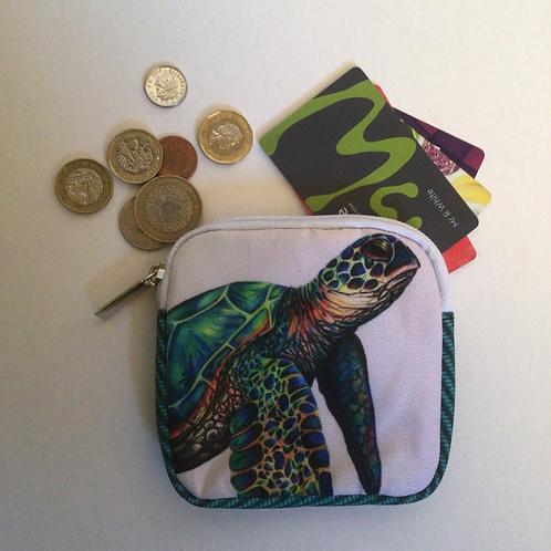 Sea Turtle Square Coin Purse/Accessory Pouch