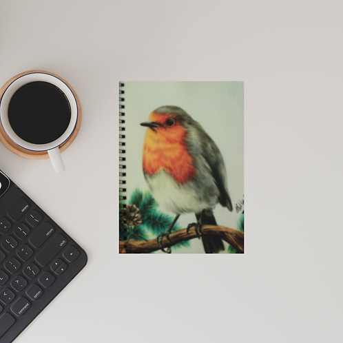 Robin Redbreast Lined Notebook