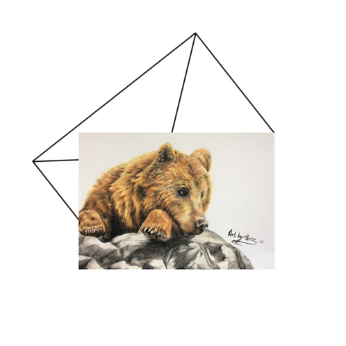 Honey Bear Fine Art Card