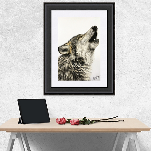 Howling Wolf Original Drawing