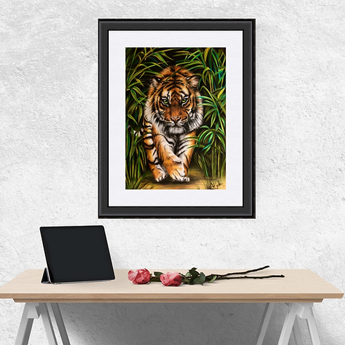 Tiger On The Prowl Fine Art Print