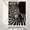 Thumbnail: Zebra Portrait Monochrome Card Blank