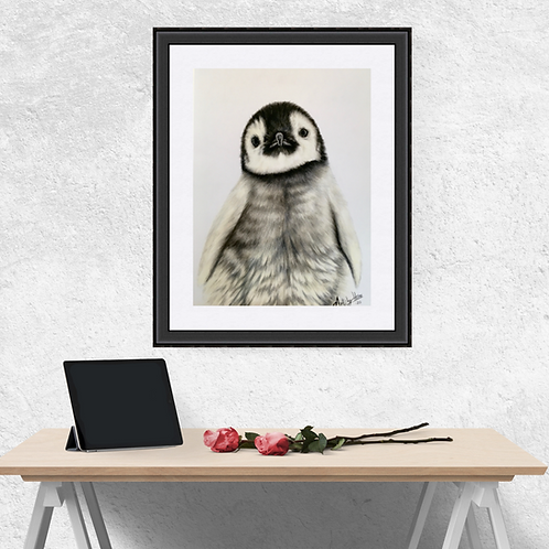 Baby Penguin Original Drawing