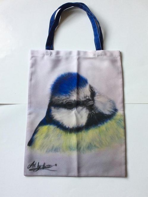 Blue Tit Tote Bag For Bird Lovers,