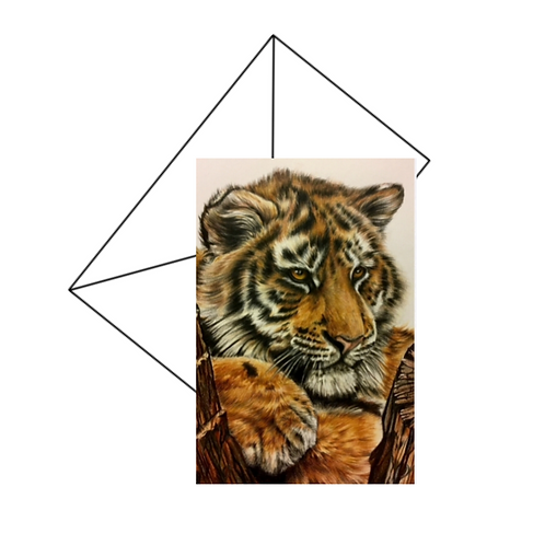 Tiger Art Card, Wildlife Art Card