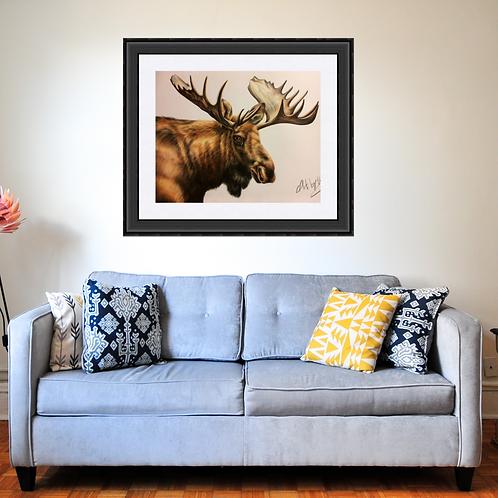 Moose Original Drawing