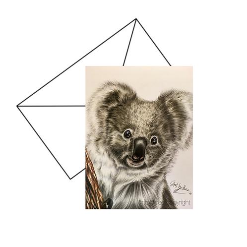 Koala Bear Card Blank